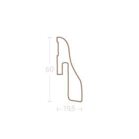 Echtholz-Sockelleiste SL 4