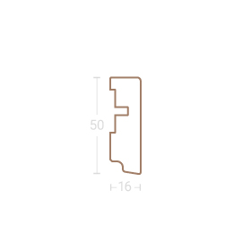 Dekor-Sockelleiste SL 6
